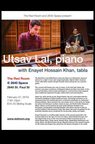 Utsav Lal -Hindustani Classical on piano with Enayet Hossain Khan on Tabla